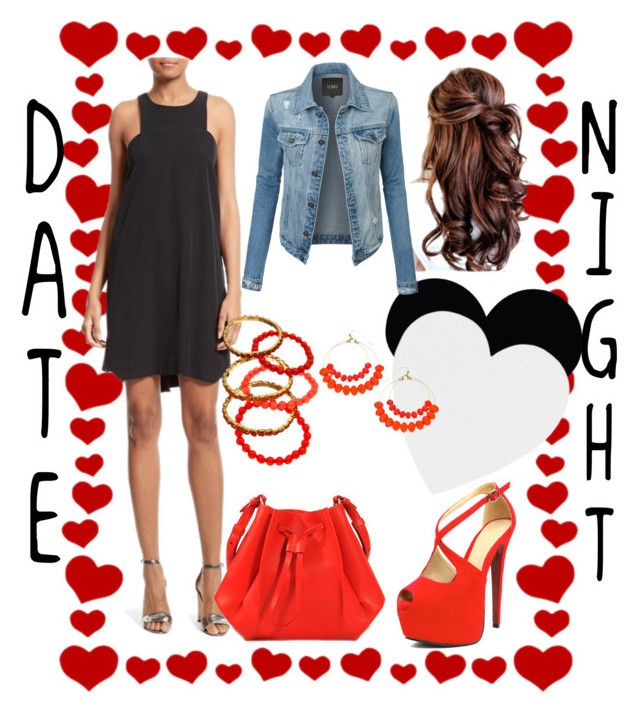 """""""Valentines Date Night"""" by sammy-sue-smith ❤ liked on Polyvore featuring Brika, Milly, LE3NO, Blu Bijoux and Maison Margiela"""