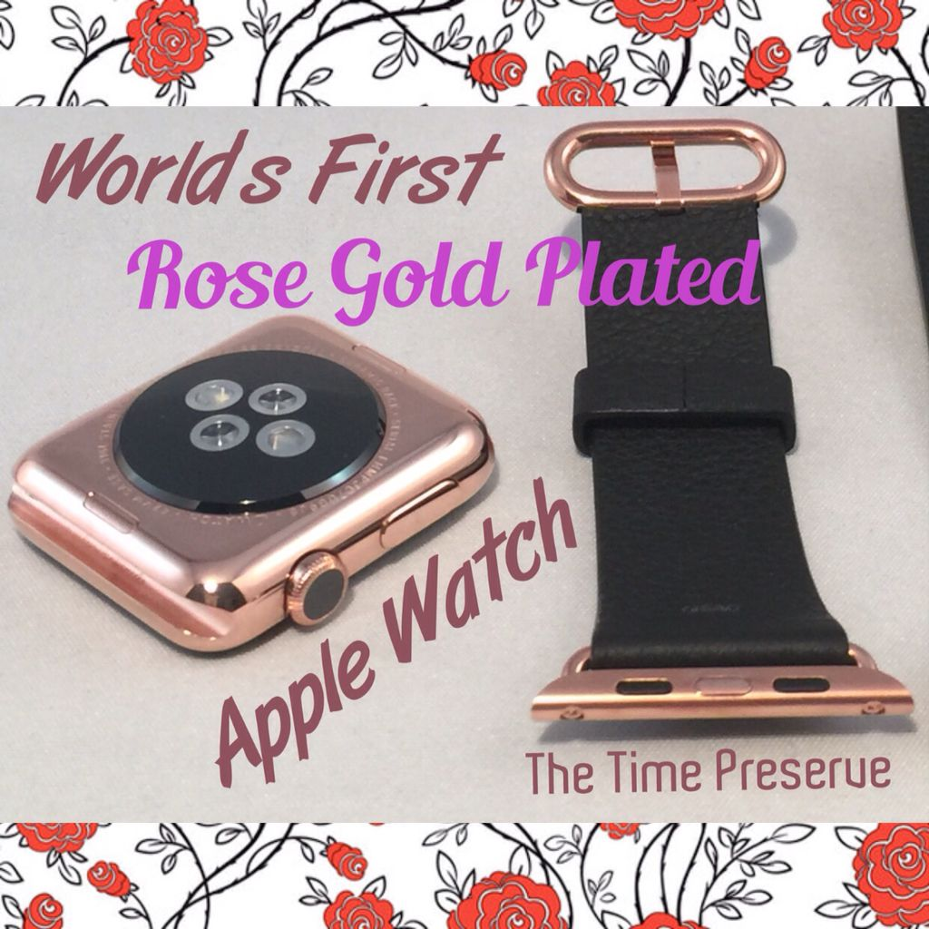 Rose gold plated Apple watch matching perfectly the Apple Edition