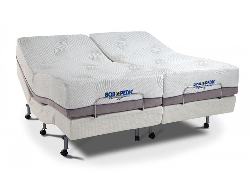 Power Bob With Bob O Pedic Dual King Set Adjustable Bed Mattress
