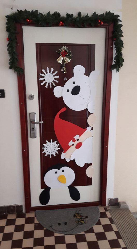 Manualidades Para Decorar Puertas En Navidad.Pin En Christmas Window Decor