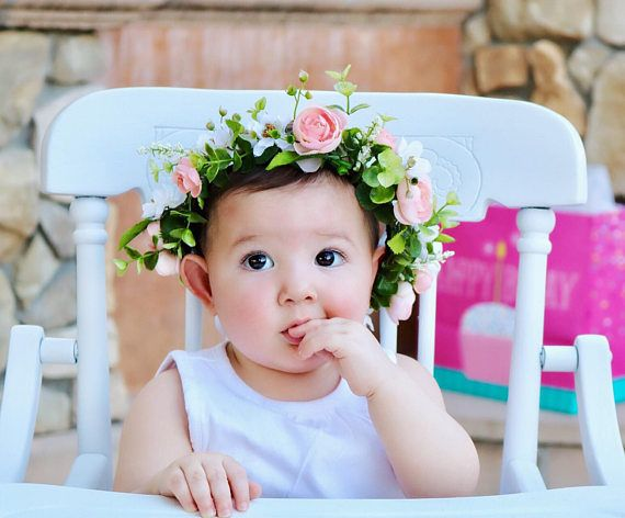 Felt Flower Headband Dusty Rose Wool Pom Daisy Or Hair Clip Newborn