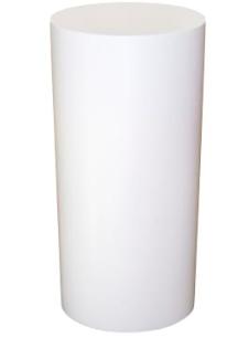 White Round Pedestals Small Medium Large Medium Dim