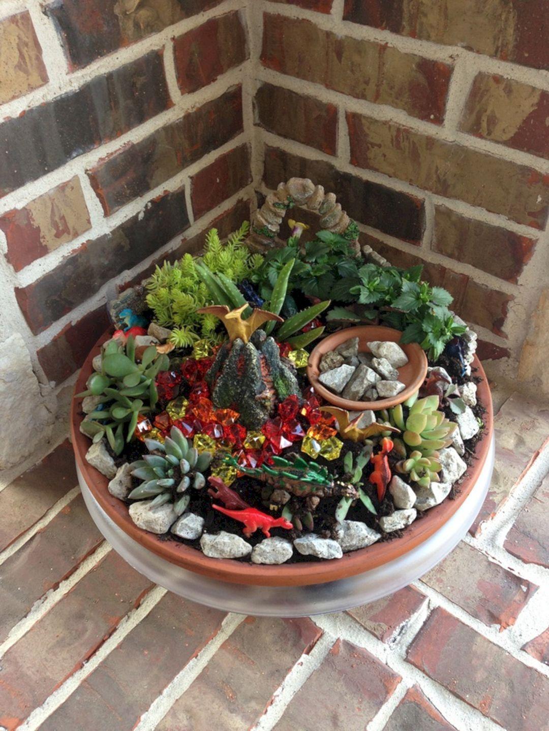 41+ Astonishing Dinosaur Garden Design Ideas | Pinterest | Fairy ...