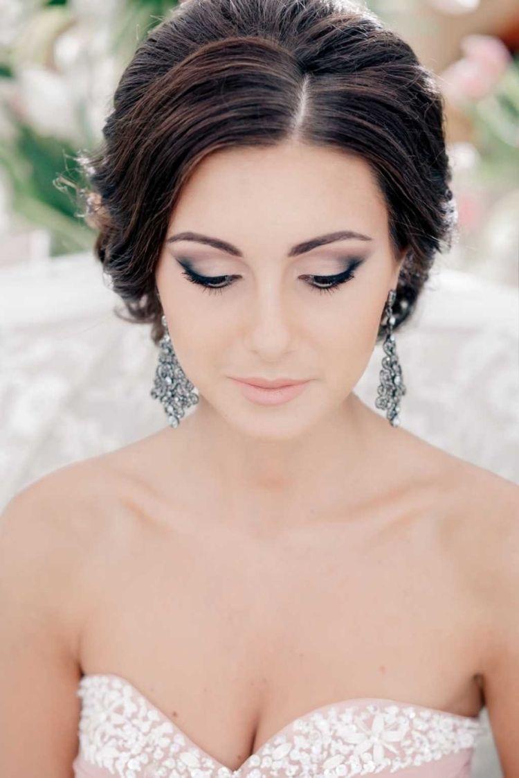 Hochzeit Braut Make Up Dunkler Typ Wedding Makeup Braut Make Up Hochzeitsfrisuren Brautfrisur