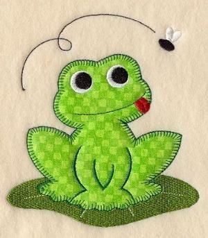 Frog (Heirloom Applique) by silvia | WOOL APPLIQUE