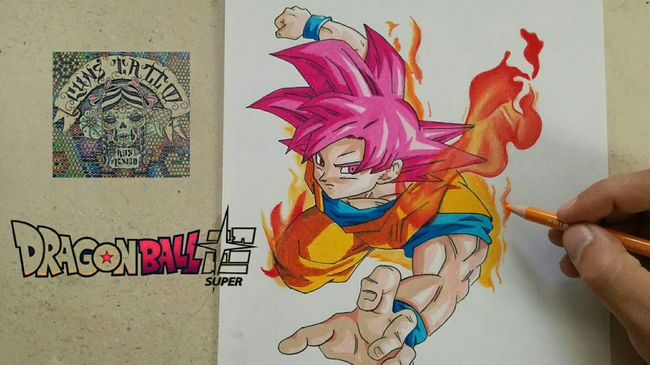 Resultado De Imagen Para Goku Dios Rojo Vs Bills Dibujos