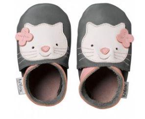 Basic: collectie: Soft Sole Characters, Kitten Maat S Bobux soft soles zijn de eerste en originele leren slofjes met elastische sluiting die goed blijven zitten! De leren slofjes zijn gemaakt van ecol