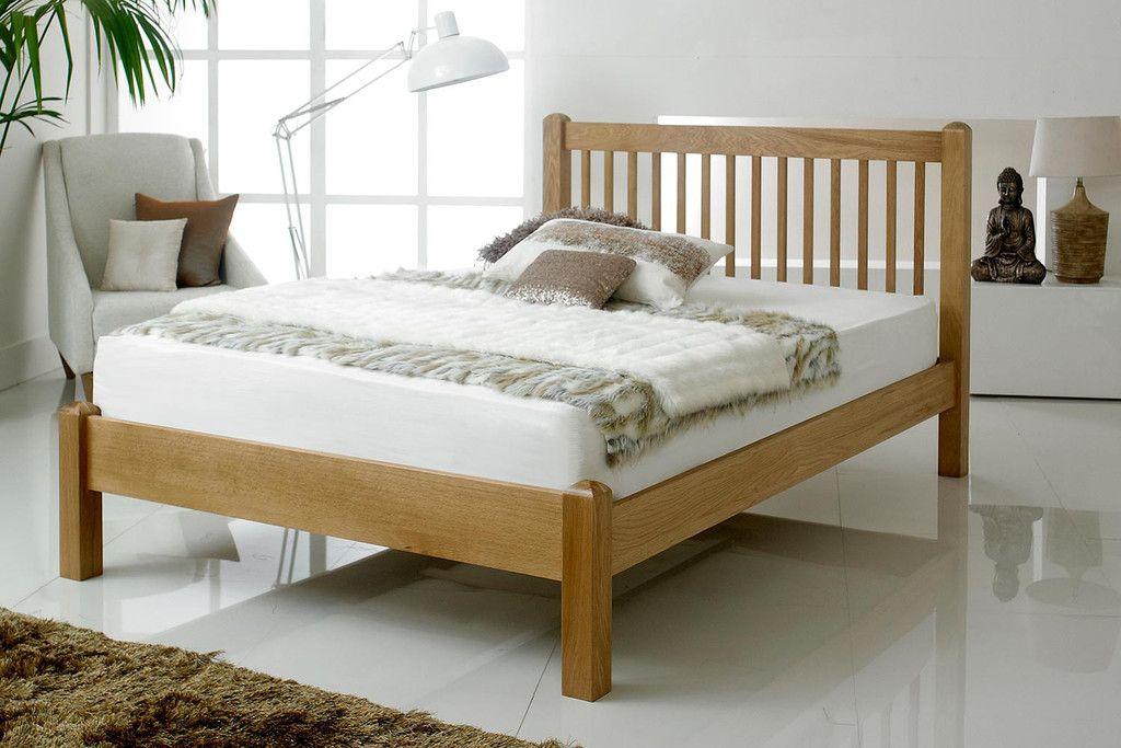 trafalgar solid oak bed frame 5ft king size the oak bed store