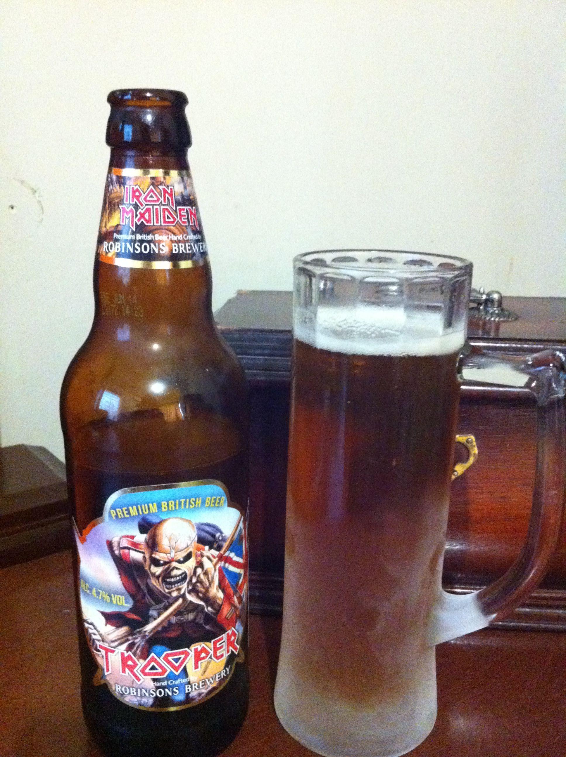 Ni Mas Ni Menos Que La Trooper De Iron Maiden Cerveza Inglesa