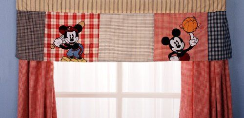 Curtains Blinds Shutters Home Kitchen Mickey Mouse Patchwork Curtain Valance Decor Theamalfiexperience Com