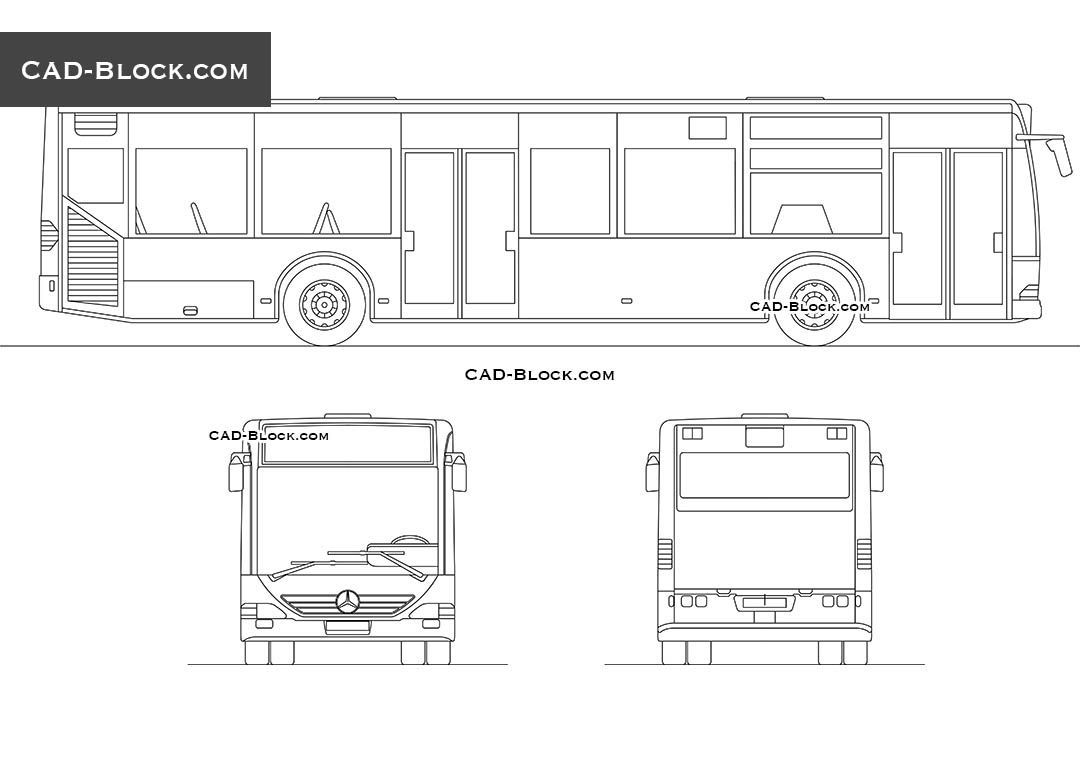 Bus mercedes benz citaro cad block vehicles pinterest for Cad car plan