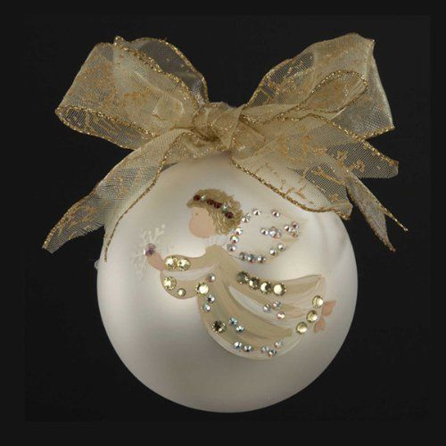 Amelia Ange Crafts: Sarabella Hand Painted Angel With Snowflake Glass Ball