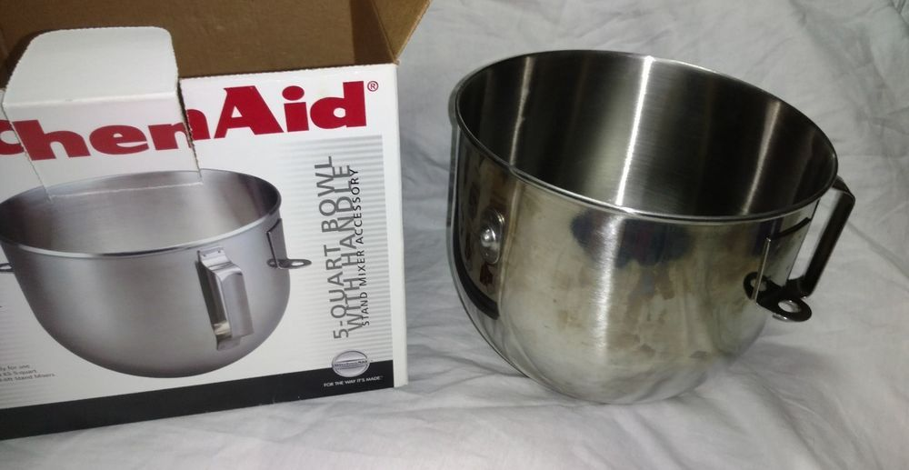 Kitchen aid 5 quart bowl with handle mixer accessory