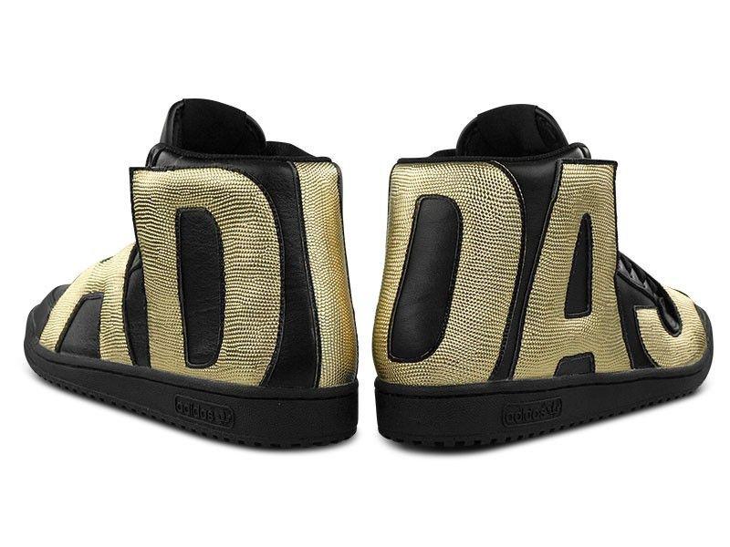 Adidas Jeremy Scott Letters Gold Men's Shoes Size