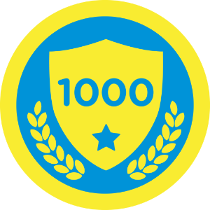 Ten Hundred Badge Badge Four Square Badge Design