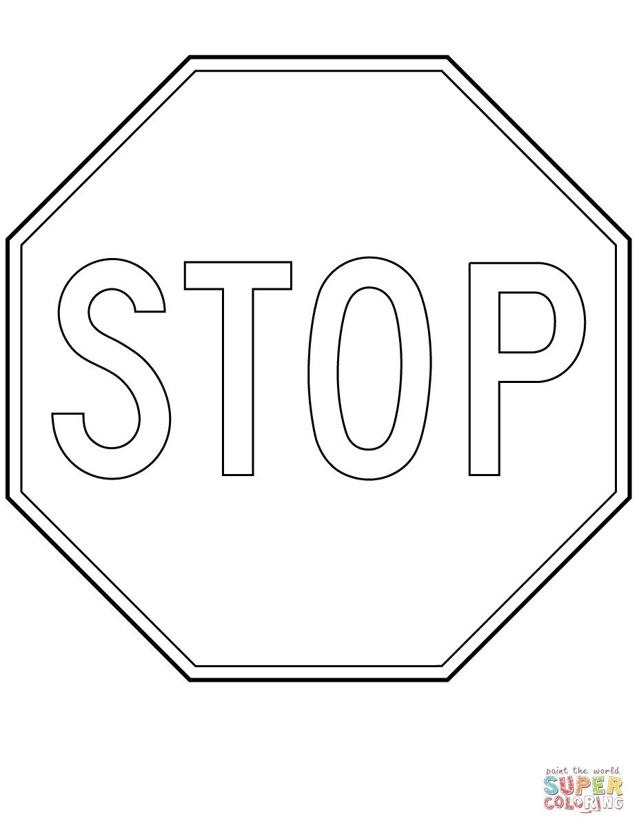 stop sign coloring page canada stop sign coloring page