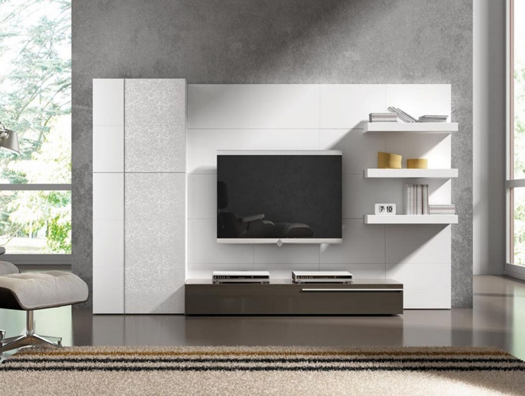 28 Elegant Modern Wall Tv Cabinet Ideas For Living Room In 2020 Tv Wall Panel Modern Tv Wall Units Wall Unit Designs