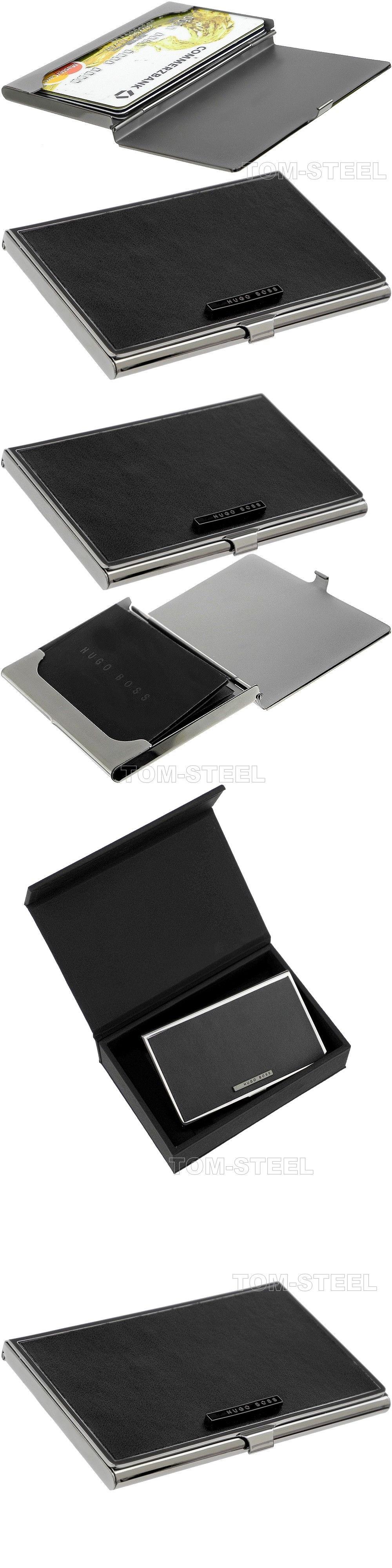 Checkbook Holders 105408: Hugo Boss Stainless Steel Credit Card Case ...