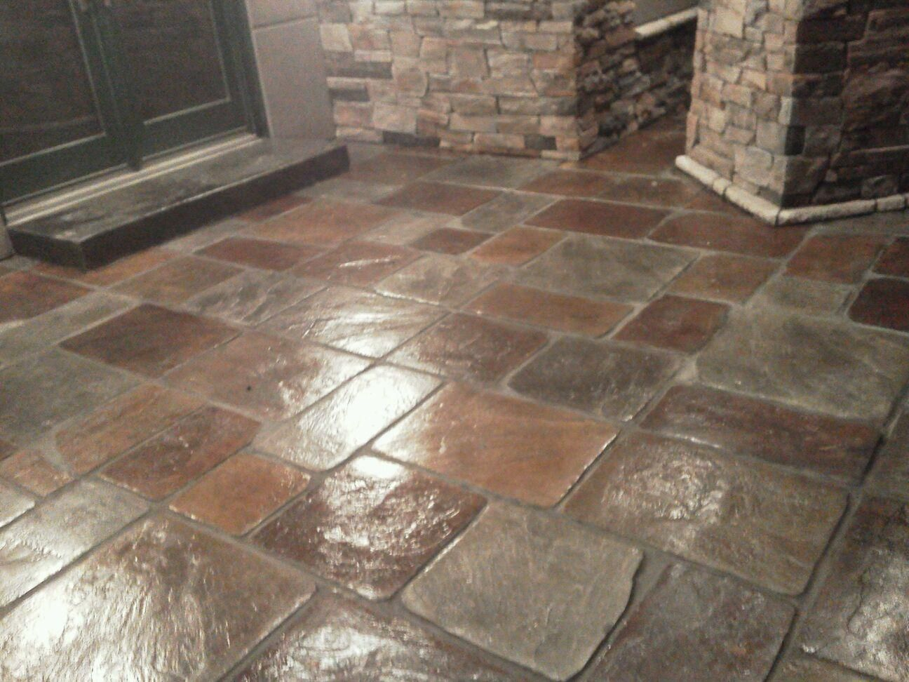 Stamped Concrete Flooring : Concrete made to look like real stone more than just