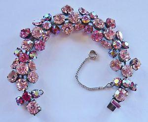 Bracelet Signed Regency Pink Rhinestone Vintage   eBay