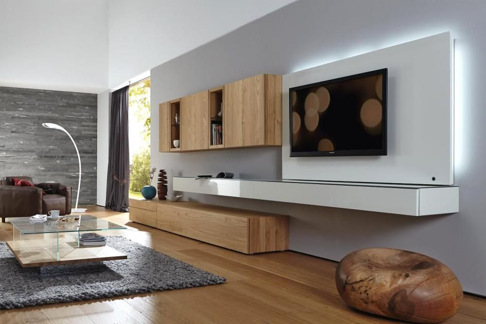 tv m bel aus holz glas in wei oder schwarz. Black Bedroom Furniture Sets. Home Design Ideas
