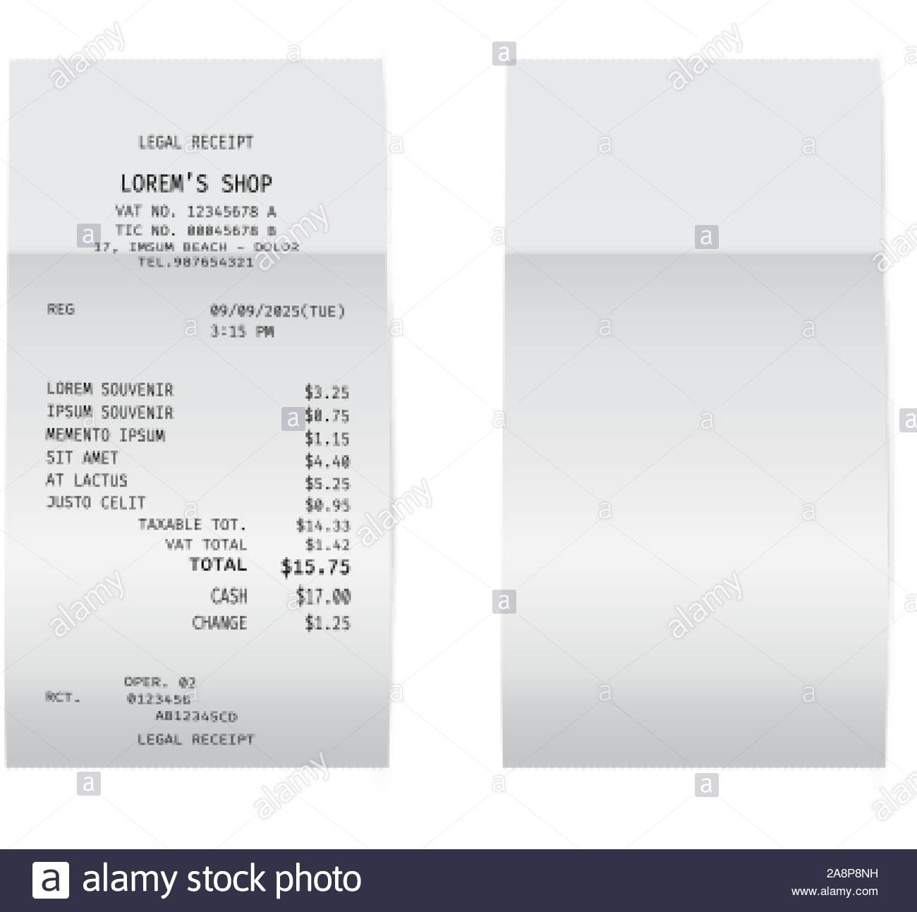 The Wonderful Template Of A Check From A Shop Or Supermarket Or Restaurant Regarding Cashiers Check Template Picture Below Is
