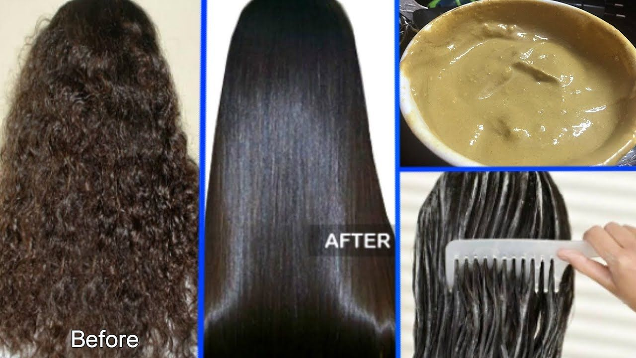 How To Straighten Your Curly Hair Naturally At Home Permanent Hair Straighte Permanent Hair Straightening Cream Best Diy Hair Mask Straightening Natural Hair