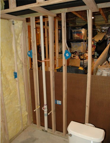framed basement bathroom with wiring for the home pinterest rh pinterest com Wiring a Basement Room Wiring a Basement Bathroom
