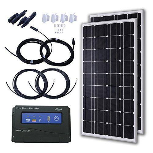 Go Power Gp Rv 95 95 Watt Solar Kit With 30 Amp Digital Regulator Solar Kit Solar Panel Kits Solar Panels For Home