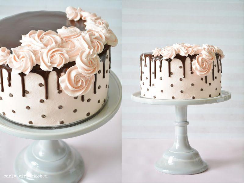 Polkadot Drip Cake Curly Girl Kitchen Chocolate Cake Decoration Chocolate Chip Cake Cake