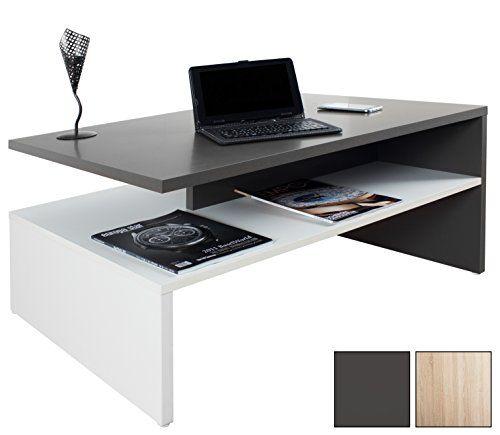 RICOO Tavolino basso da divano da soggiorno Design WM080-W ...