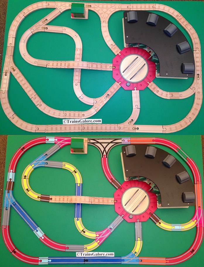 Gives me ideas on how to set up boys track! Train TableWooden ...  sc 1 st  Pinterest & Gives me ideas on how to set up boys track! | Train Tables \u0026 J Gifts ...