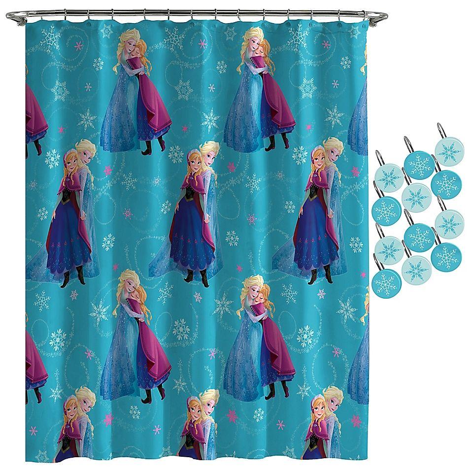 Disney Frozen Swirl Shower Curtain Multi In 2020 Curtains