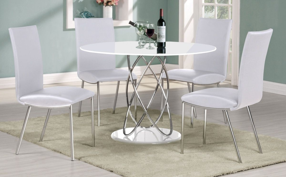 Best White Gloss Kitchen Table And Chairs   Round dining ...