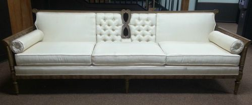 Brilliant Details About Vtg French Provincial Tufted Sofa Couch Off Uwap Interior Chair Design Uwaporg