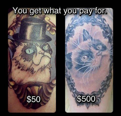 You Get What You Pay For With Images Cat Tattoo Angry Cat