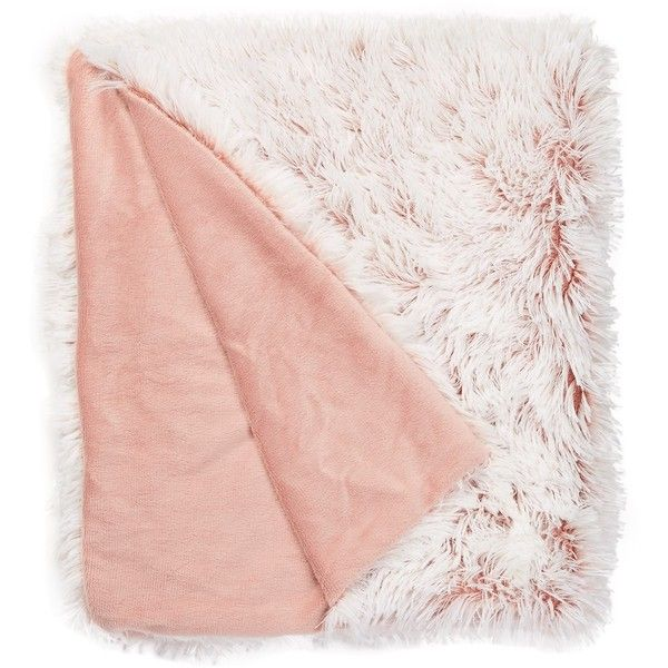 Blush Pink Throw Blanket Endearing Nordstrom Rack Faux Feather Plush Throw Featuring Polyvore Home Decorating Inspiration
