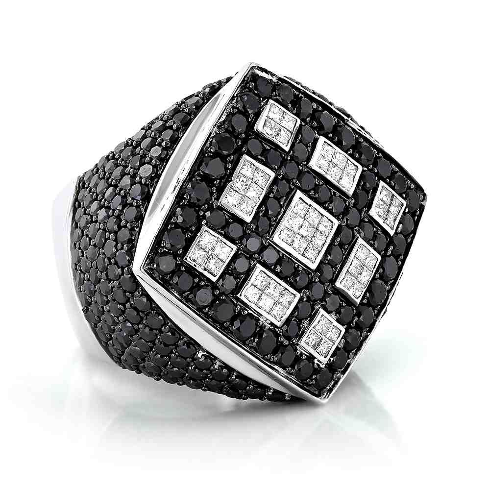Black Diamond Engagement Rings Men
