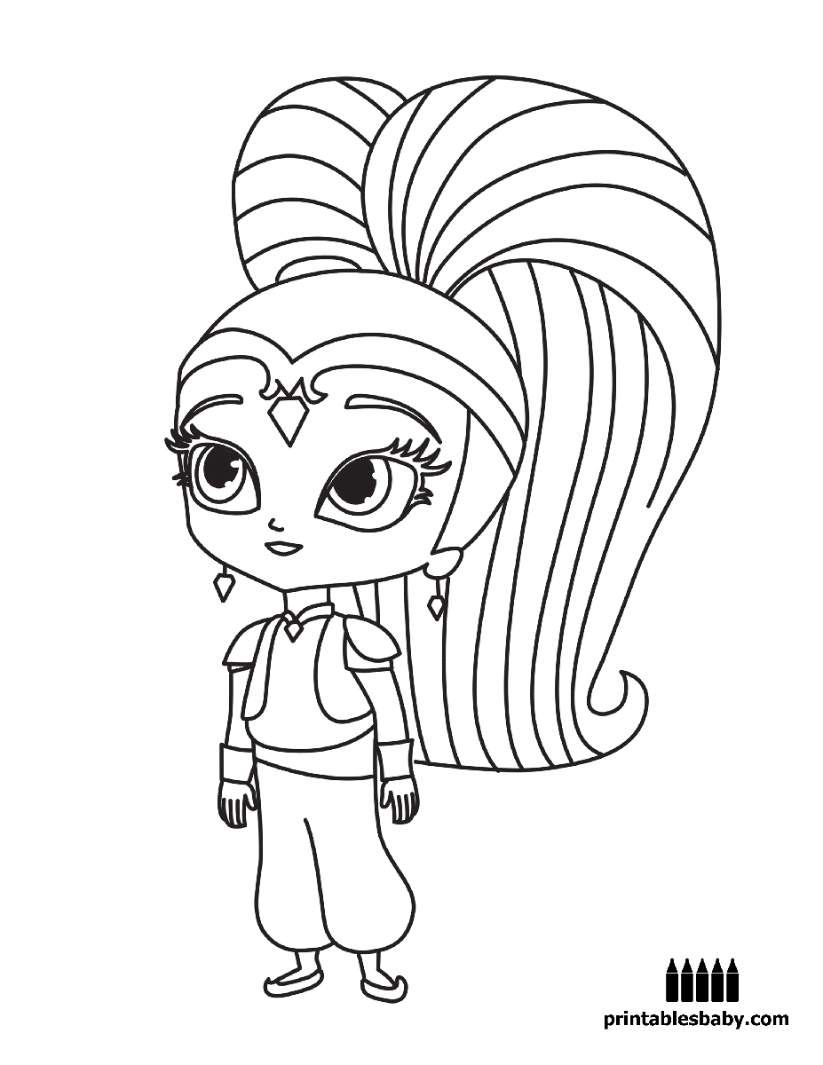 Kleurplaten Shimmer And Shine.Shimmer And Shine Freebies Cartoon Coloring Pages Coloring