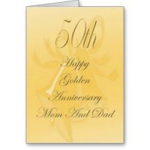 50th Wedding Anniversary Card For Mom And Dad
