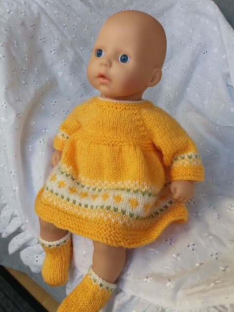 Baby Annabell Festive Dress (With images) | Knitting dolls ...