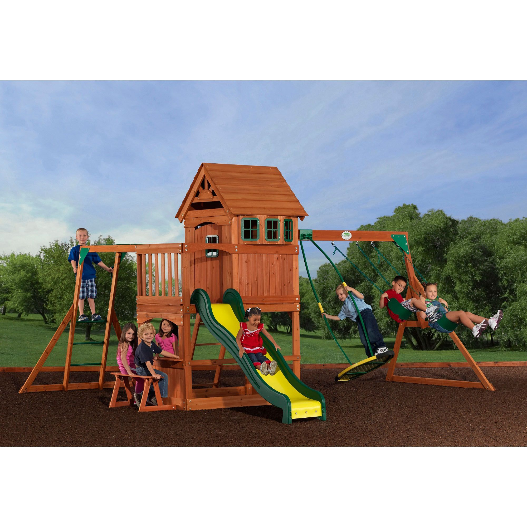 Backyard Discovery Montpelier All Cedar Swing Set Back Yard