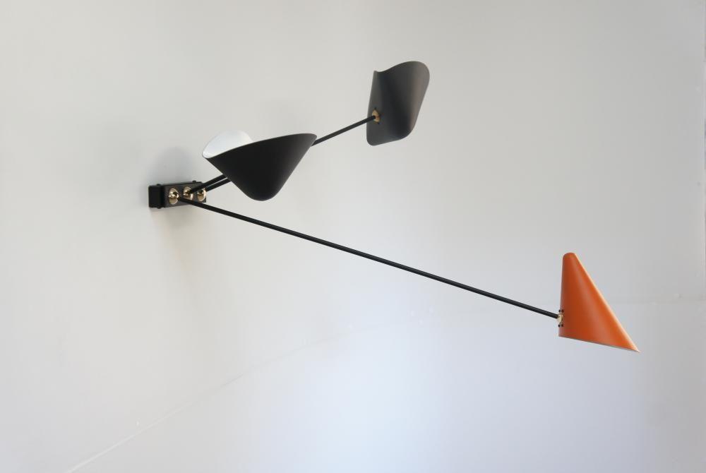 Luminaire lampe applique design 50 vintage éclairage minimaliste