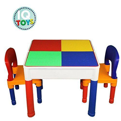 Nice Kids Table U0026 Chairs 3 In 1 Lego U0026 Duplo Compatible Plus Storage Play Set *
