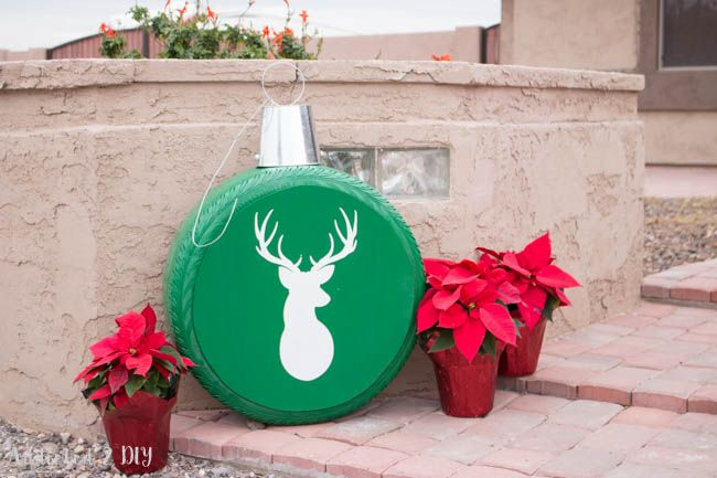 How To Make Giant Christmas Ornaments From Old Tires Christmas