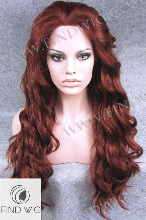 Lace Front Wig Wavy Ginger Long Hair. New Style Wig 6-35 350. Ginger Wig.  http   findwig.com synthetic-lace-front-wig-wavy-red-long-hair.html 640501833