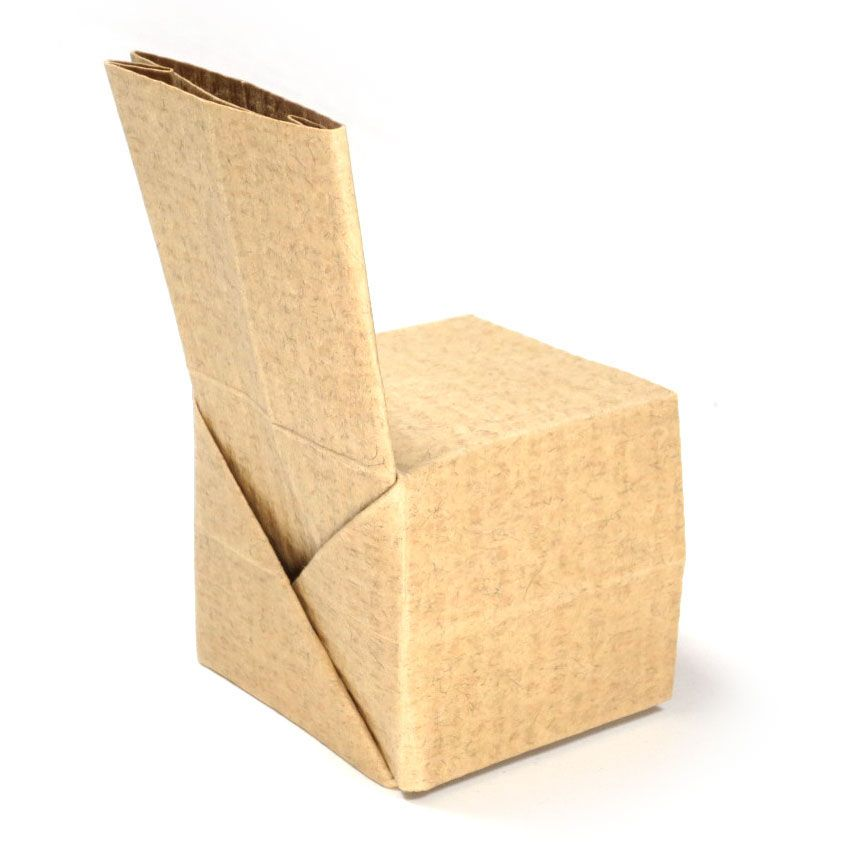 How To Make A Simple Regular Origami Chair Http Www Origami
