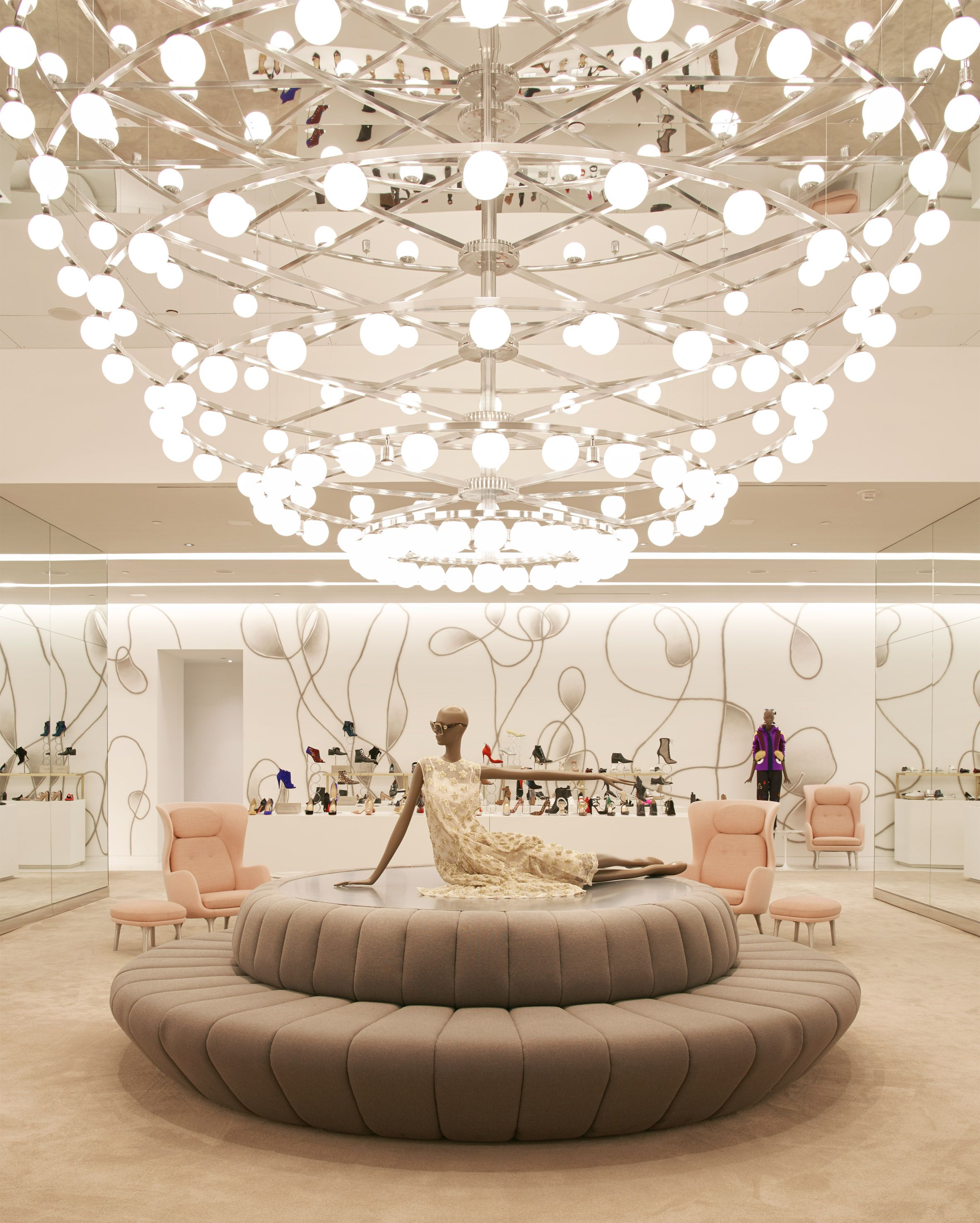 Saks Fifth Avenue Opens New Brookfield Place Outpost By Found Retail Design Retail Store Design Retail Lighting