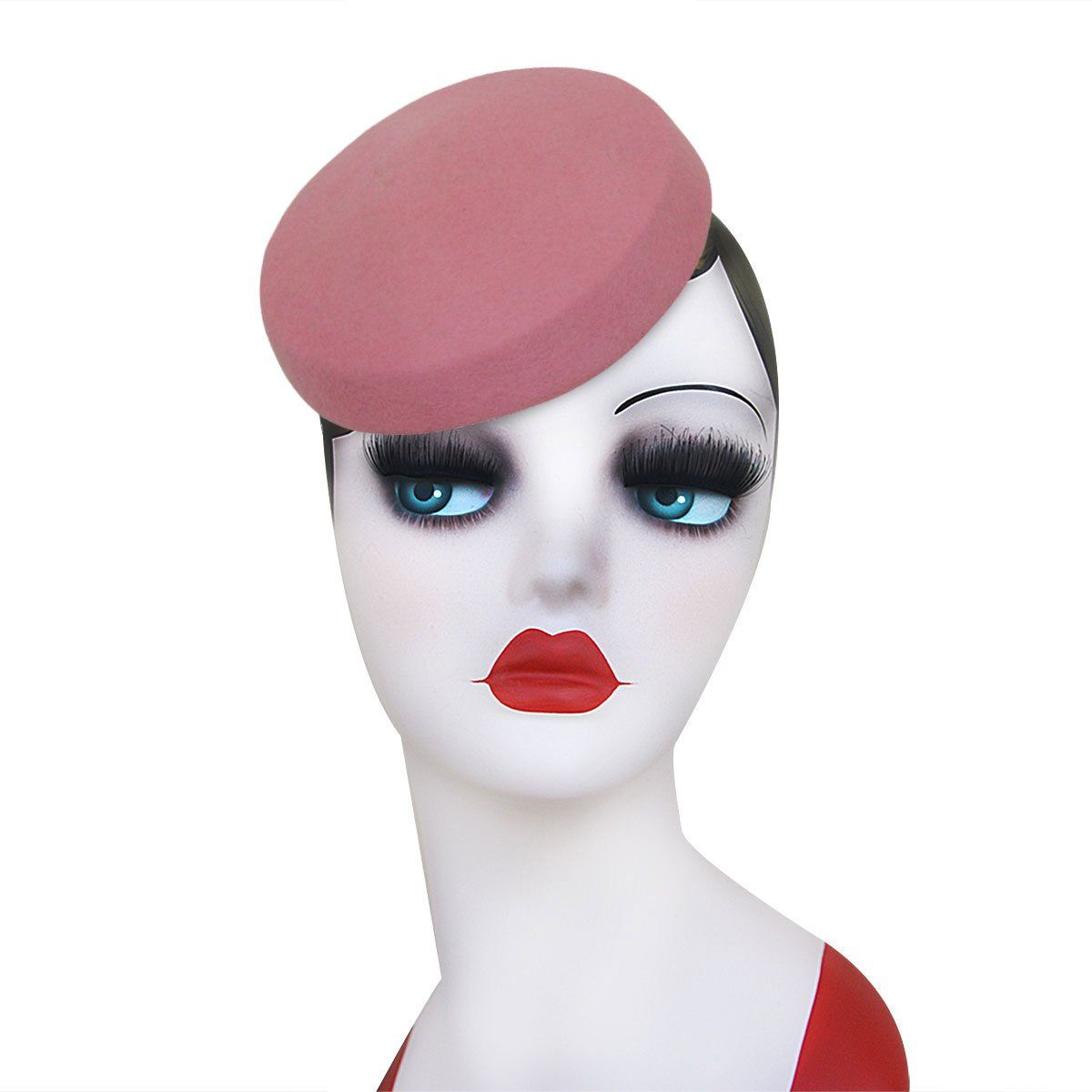 9e13e55c52ca2 Possible Dolores Umbridge hat  Circle Wool Felt Pillbox Beret Hat Millinery  Fascinator Base Cocktail Party A215 (Camel) at Amazon Women s Clothing  store