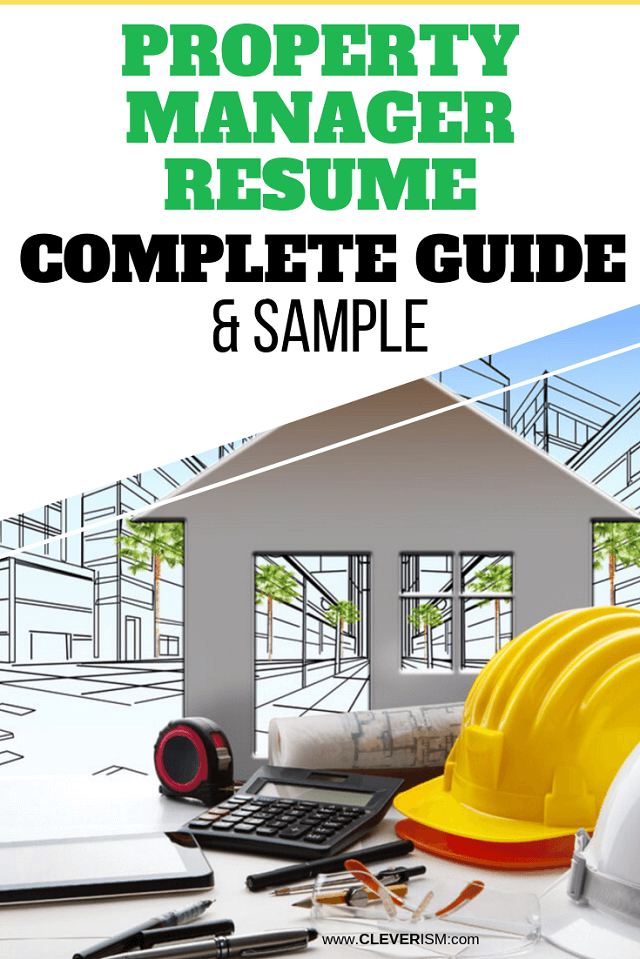 Property Manager Resume Sample and Complete Guide